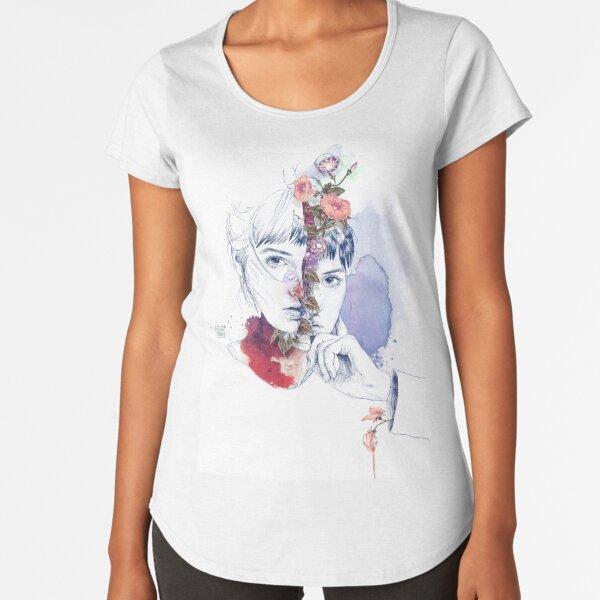 CELLULAR DIVISION by elena garnu Premium Scoop T-Shirt