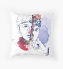 CELLULAR DIVISION by elena garnu Throw Pillow