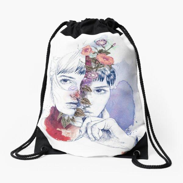 CELLULAR DIVISION by elena garnu Drawstring Bag