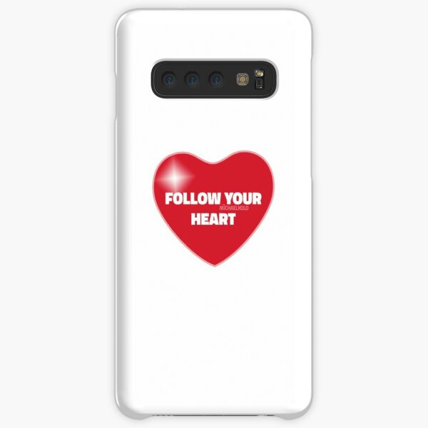 Follow Your Heart (Red) Samsung Galaxy Snap Case