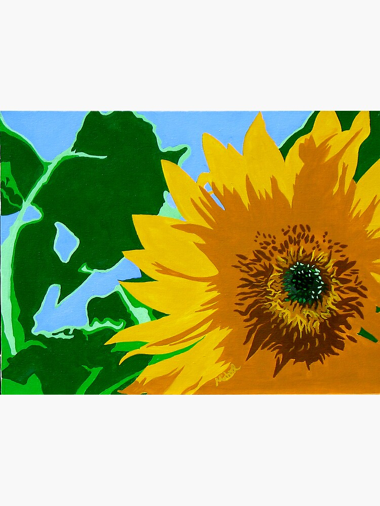 fabulous collection of pop art interior that will catch.htm sunflower  pop art style nature painting  greeting card by marnold  pop art style nature painting