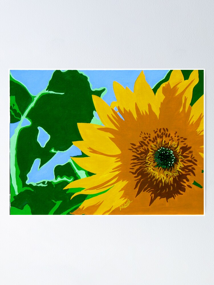 pop art bedroom decor online information.htm sunflower  pop art style nature painting  poster by marnold  sunflower  pop art style nature