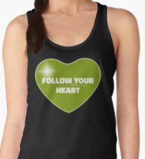 Follow Your Heart (Green) Women's Tank Top