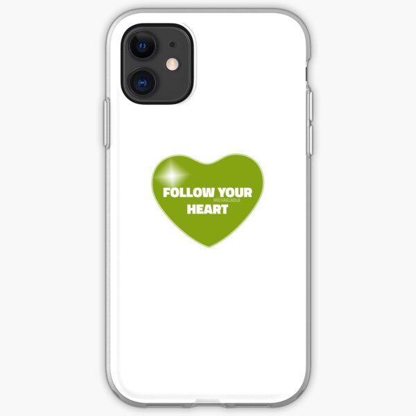 Follow Your Heart (Green) iPhone Soft Case
