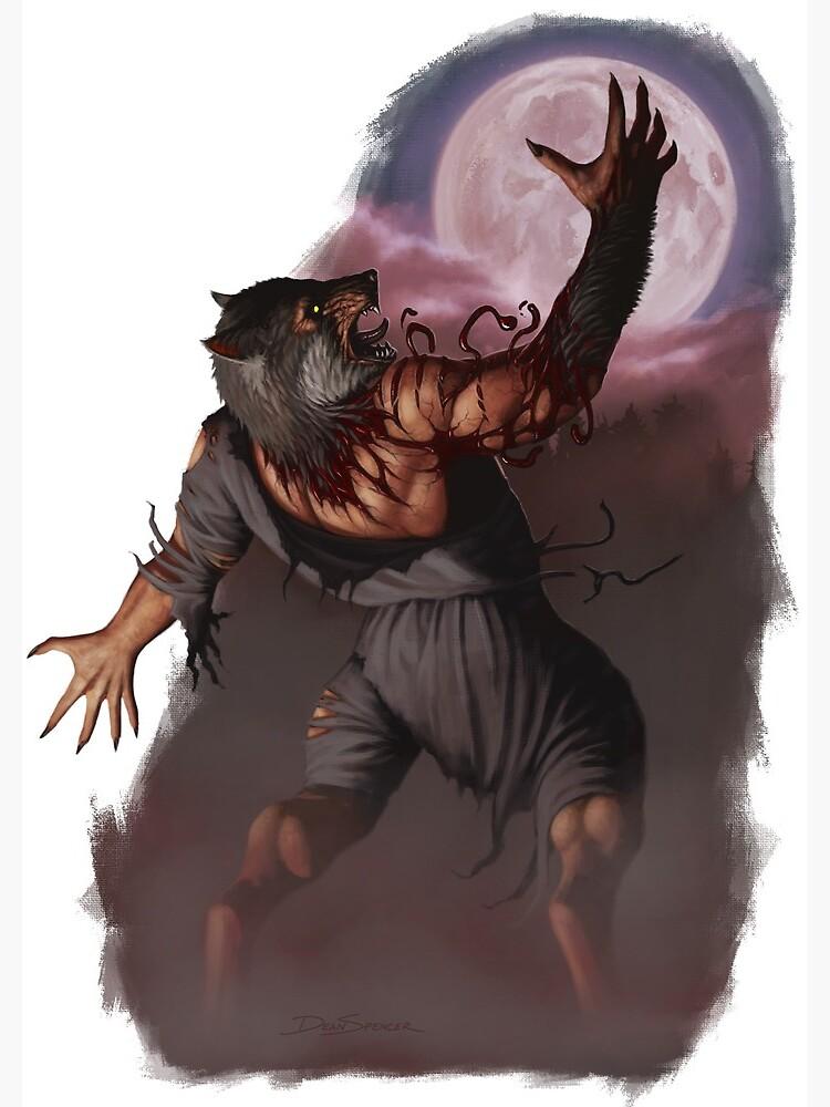 Werewolf Transformation speedpaint 3 by liminalbean on