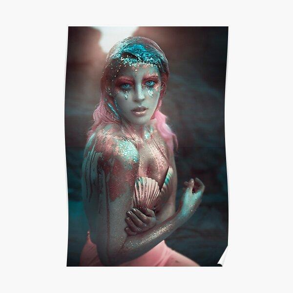 Pink Mermaid Póster