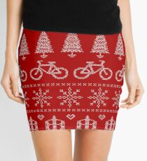 Christmas Cycling Jumper | Red Mini Skirt