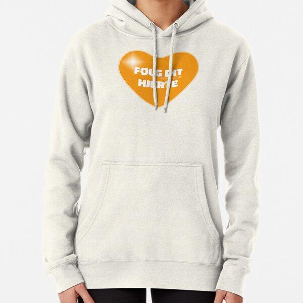 Følg dit hjerte (Orange) Pullover Hoodie