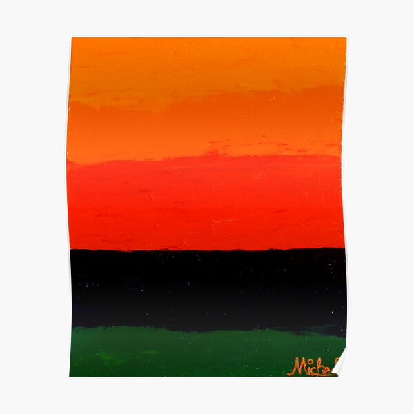 """""""Sunset"""" abstract nature painting Poster"""