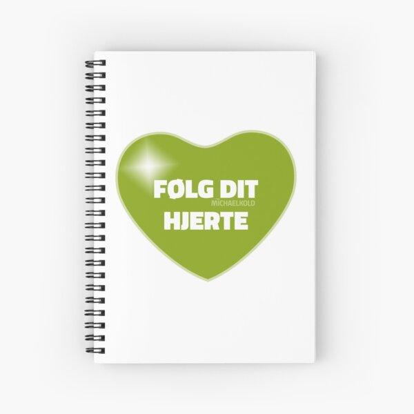 Følg dit hjerte (Green) Spiral Notebook