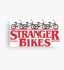 Stranger Things Season 2 Bikes and Flash Lights Canvas Print