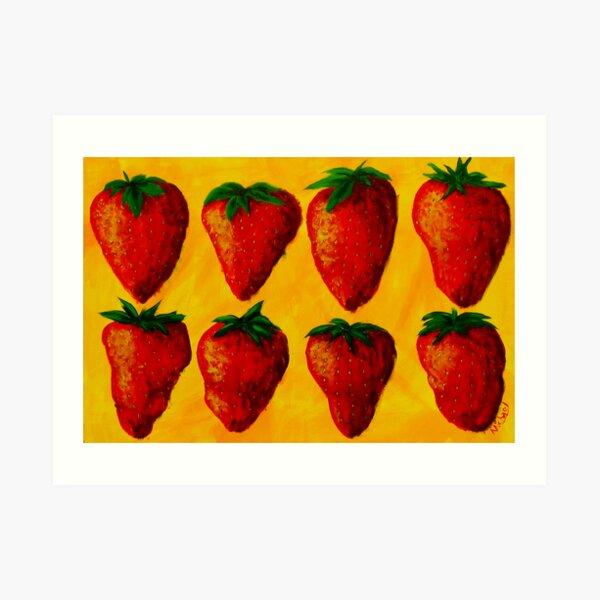 """Strawberry Fields"" original pop art painting Art Print"