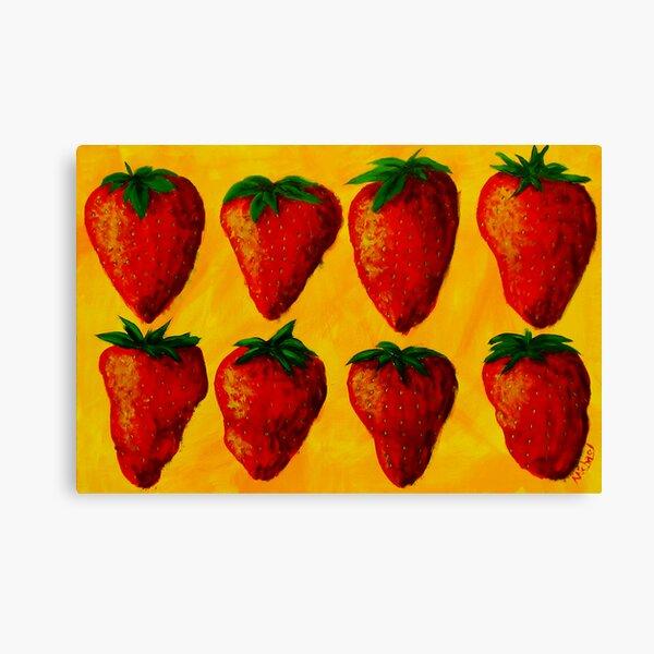 """Strawberry Fields"" original pop art painting Canvas Print"