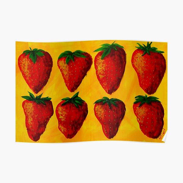"""Strawberry Fields"" original pop art painting Poster"