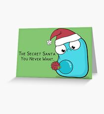 Secret Santa Virus Greeting Card