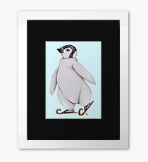 Skating Penguin - Ice Skating Penguin Framed Print