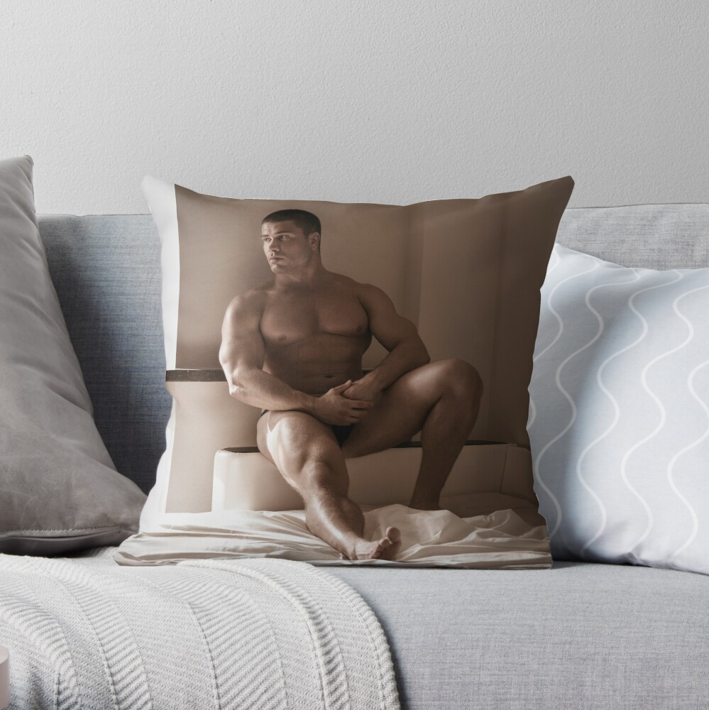 Lonely Hunk Throw Pillow