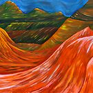 """Mountainsl"" original nature painting on canvas by Michael Arnold"