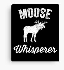 Moose whisperer Canvas Print