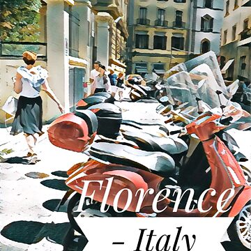 Florence Italy scooters in colour by cutehuur