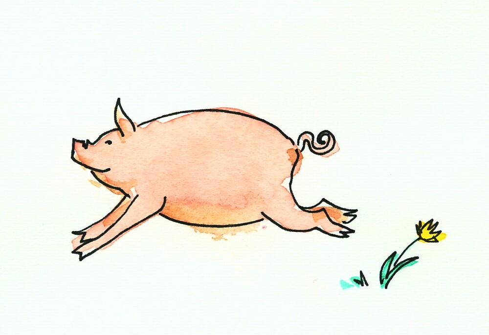 Running Pig by Tama Blough