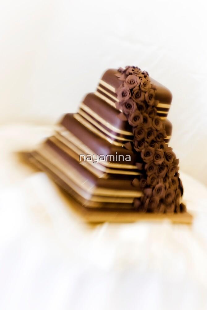 Chocolate Wedding Cake Lensbabied by nayamina