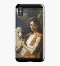 St John the Baptist Wearing the Red Tabard of the Order of St John , Mattia Preti iPhone Case/Skin