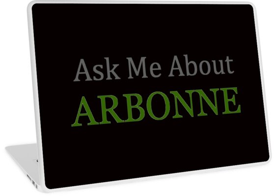 'Arbonne | Ask Me About Arbonne Shirt and more' Laptop Skin by merkraht