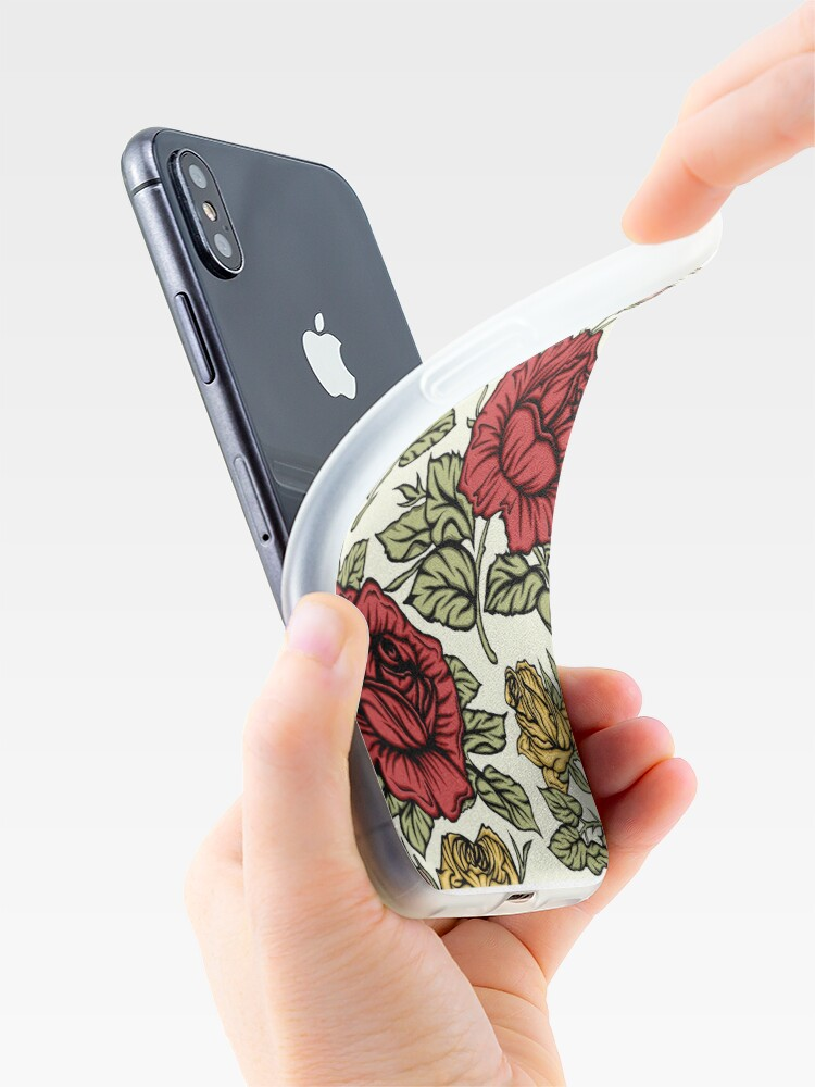 Vista alternativa de Funda y vinilo para iPhone Rosa floral