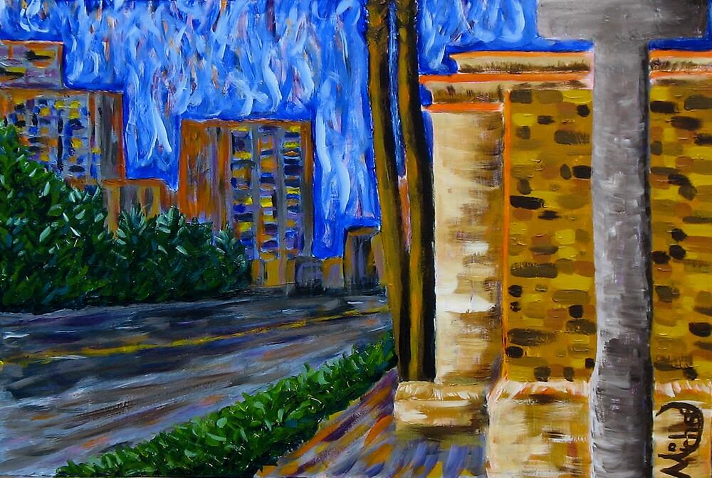 """Daytona Beach"" original signed acrylic painting on canvas by Michael Arnold"
