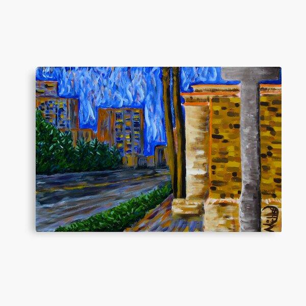"""Daytona Beach"" original signed acrylic painting on canvas Canvas Print"