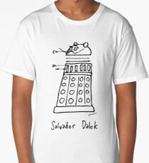 Salvador Dalek - black print version Long T-Shirt