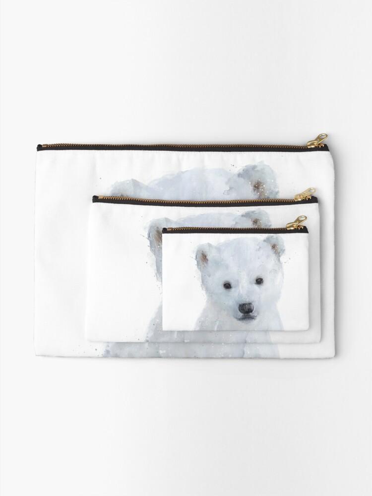 Alternate view of Little Polar Bear Zipper Pouch