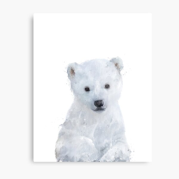 Little Polar Bear Metal Print