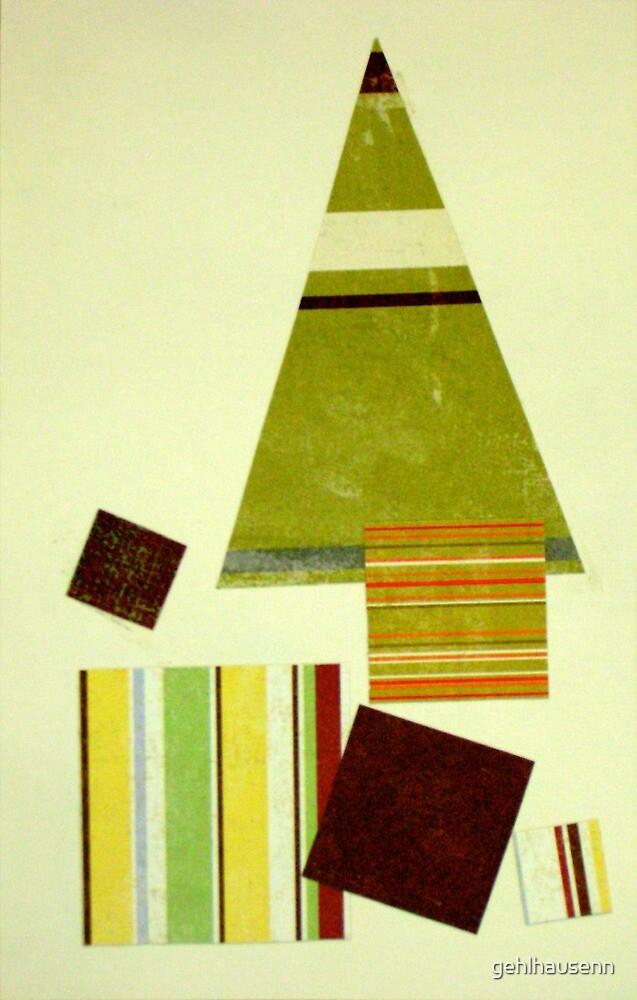 Striped Christmas tree by gehlhausenn