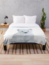 Little Polar Bear Throw Blanket