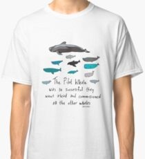 Pilot Whales Cartoon Classic T-Shirt