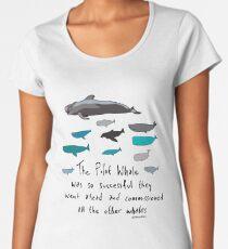Pilot Whales Cartoon Women's Premium T-Shirt
