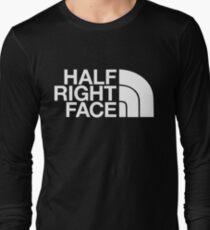 Half Right Face Long Sleeve T-Shirt