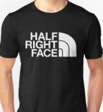 Halbes rechtes Gesicht Unisex T-Shirt