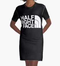 Half Right Face Graphic T-Shirt Dress