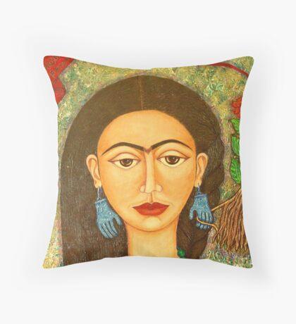 My homage to Frida Kahlo Throw Pillow