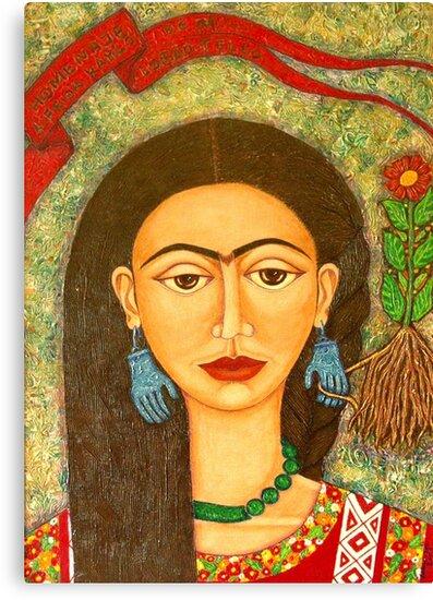 My homage to Frida Kahlo by Madalena Lobao-Tello