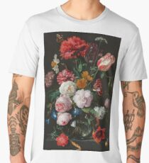 Still Life with Flowers in a Glass Vase, Jan Davidsz. de Heem, 1650 - 1683 Men's Premium T-Shirt