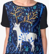 Deericorn In Blue Women's Chiffon Top