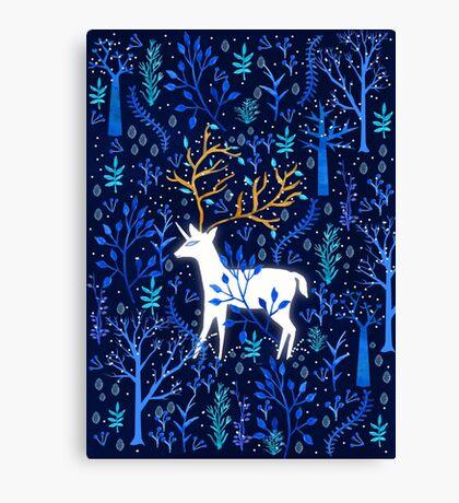 Deericorn In Blue Canvas Print