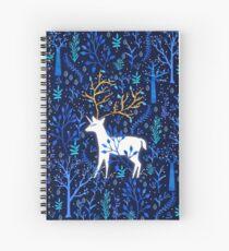 Cuaderno de espiral Deericorn en azul