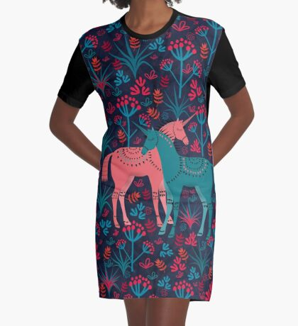 Unicorn Land Graphic T-Shirt Dress