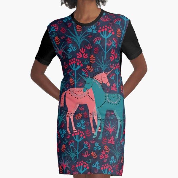 Unicorn Land Graphic T-Shirt Dress