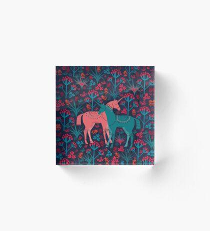 Unicorn Land Acrylic Block